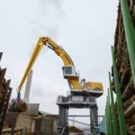 Liebherr LH 150 C Gantry Port Litronic Electric Scrap Handler Groff Equipment