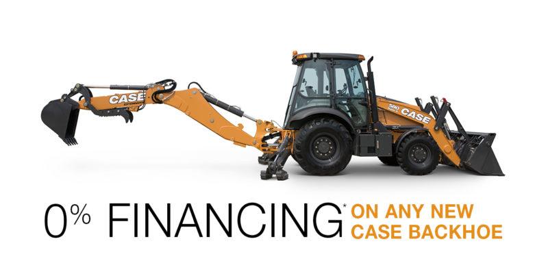 0% financing on any case backhoe at GT MidAtlantic