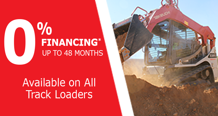 0% Financing for 48 Months on Takeuchi Track Loaders at GT Mid Atlantic
